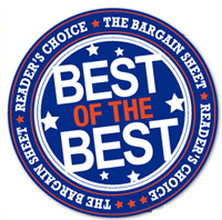Voted BEST OF THE BEST by The Bargain Sheet